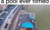 Eclectic Section: Highest Dive into a Pool Ever Filmed